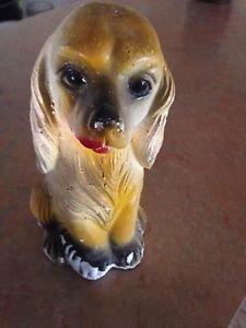 Carnival Chalkware Chalk Dog Vintage 1940