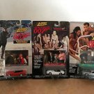 James Bond 007 Johnny Lightning Set of 3 Cars w photo cards MOC