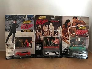 James Bond 007 Johnny Lightning Set of 3 Cars w photo cards MOC