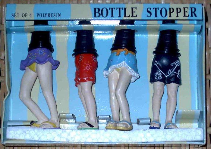 4 Beach Legs Bottle Stoppers