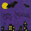 Happy Halloween Bats at Night Decorative Flag