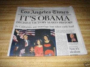 LA Times-Barack Obama Wins US Presidency story 11/05/08