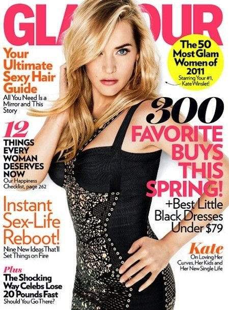 Glamour Magazine-Kate Winslet Cover 04/2011