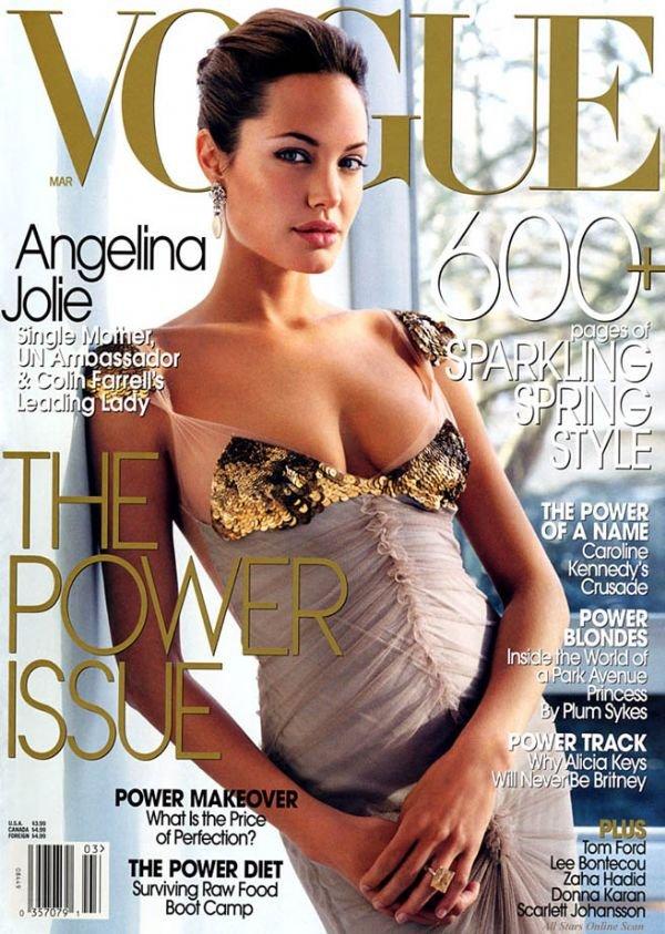 Vogue Magazine-Angelina Jolie Cover 03/2004