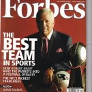 FORBES MAGAZINE 09/19/2005 The Best Team in Sports issue
