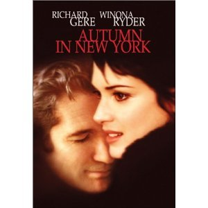 Autumn in New York DvD starring Richard Gere & Winona Ryder