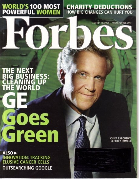 FORBES MAGAZINE 08/15/2005 GE Goes Green issue.