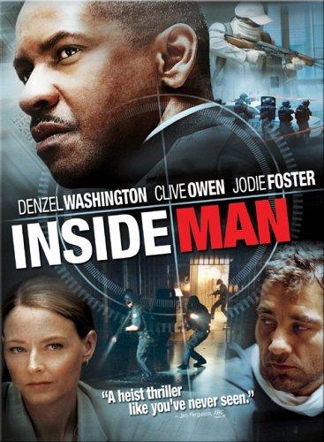 Inside Man DvD starring Denzel Washington, Clive Owen