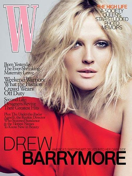 W Magazine-Brew Barrymore Cover 04/2009