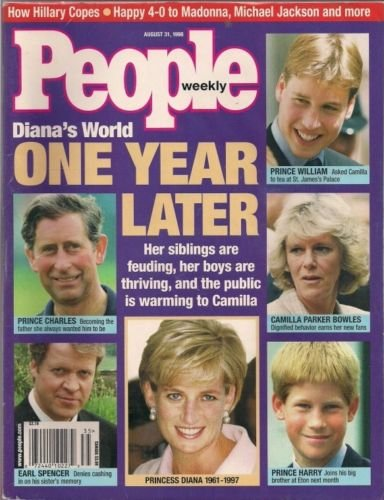 People Magazine 8/31/1998 Princess Diana 1 Year Later