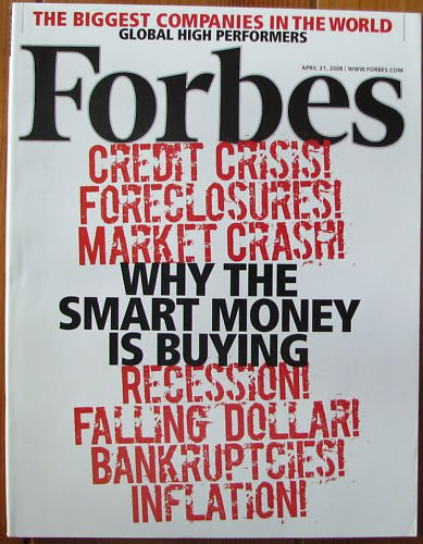 """FORBES MAGAZINE 04/21/2008 """"Why The Smart is Buying"""" issue"""
