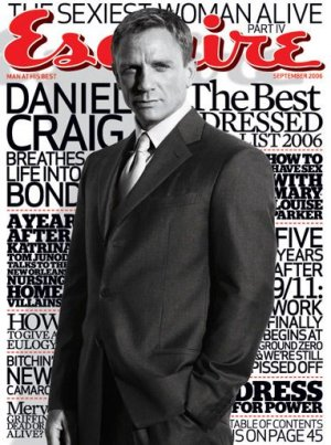 Esquire Magazine-Daniel Craig Cover 09/2006