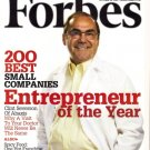 "FORBES MAGAZINE 10/29/2007 ""Entrepreneur of the Year"" issue"