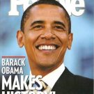 People Magazine 11/17/2008 Barack Obama MAKES HISTORY!
