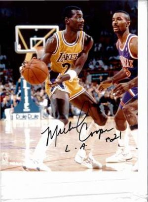 Signed Michael Cooper Photo with Certificate of Authenticity