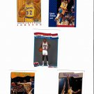 5 Assorted Magic Johnson NBA Basketball Cards