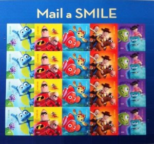 Disney Pixar Animation Forever Postage USA Stamps
