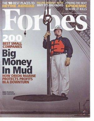 "FORBES MAGAZINE 11/2/09 ""Big Money in Mud"" issue"