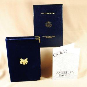 2007 Proof 4 Coin Gold Eagle Set Box, COA, Caps-No Coins