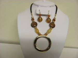 Necklace Murano Glass, Earring Set