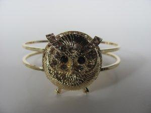 Gold Tone Owl Bracelet