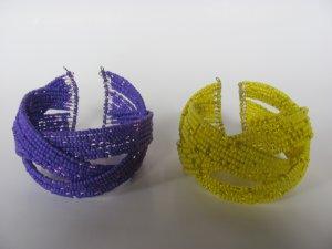 Seed Bead Memory Wire Bracelet (2 Pcs)