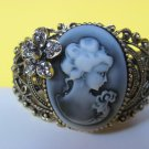 Lady Cameo Bangle Bracelet