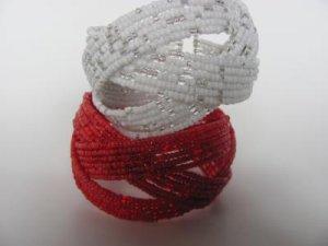 Seed Bead Wire Bracelets (2 Pcs)