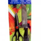 2 Pcs - Stainless Steel Shears & Knife