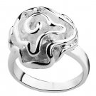 Sterling Silver Rose Flower Polished Ring - All sizes