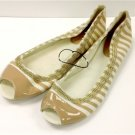NY & CO Beige & White Stripe Slip-on Opened Toe - Size 9