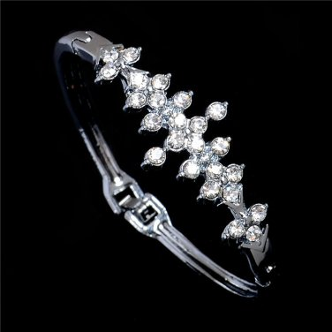 CZ Bracelet Bangle Silver Crystal