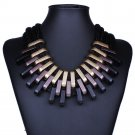 Chunky Chain Black Gold Statement Choker Necklace