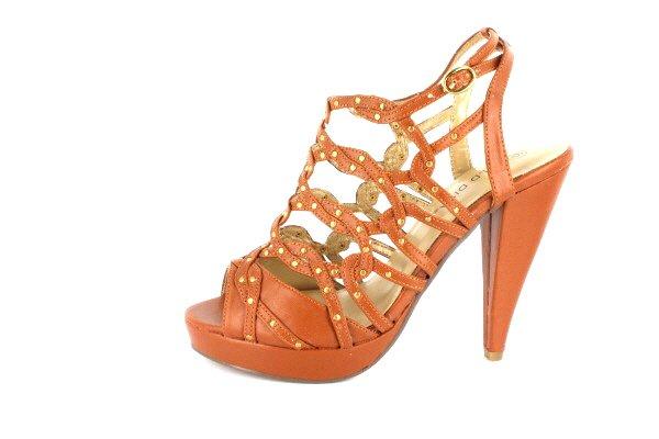 AKEMI Studded Open Toe Platform High Heeled Sandals by Wild Diva