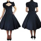 GOTH CORSET LACE-UP SWING DRESS S M L XL 2X 3X 4X