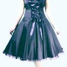 Gothic corset lace-up full dress BLACK 1X 16