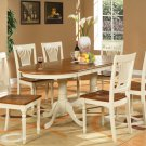"5-PC Plainfield Oval Dining Room Table Set + 4 Chairs - Size: 42""x78"" in Butter milk. SKU: PL5-WHI"