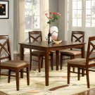 Lisbon 5-PC Rectangular Dinette Kitchen Table Set-Size 36&quot;x 48&quot;.  In Mahogany.  SKU: LB5-MAH