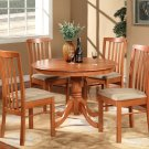 "5PC Hartland Dinette Kitchen set  42"" diameter Round Table & 4 chairs-Cherry Finish. SKU:HA5-CHR"