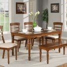 "Vintage 6PC Rectangular Dinette Dining Set in Espresso-Table Size 36""x60""- SKU: VT6-ESP"
