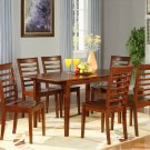 Picasso 5-PC Rectangular Dinette Dining Table Set-32&quot;x 60&quot; with 12&quot;extension leaf.  SKU: PS5-MAH