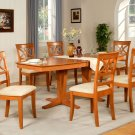 "Ellington 9-Pc  Dining Table Set- 40""X82"" - extension leaf- in light cherry.  SKU: EL9-CHR"