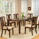 "Canton 5-PC dining table set- 40""x78"" with 18"" extension leaf. Epresso color. SKU: CA5-ESP"