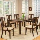 "Canton 7-PC dining table set- 40""x78"" with 18"" extension leaf.Espresso color. SKU: CA7-ESP"