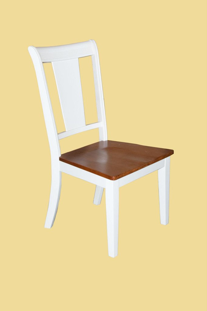 Set of 2 Canton  chairs dining room chairs-  BUTTERMILK & CHEERY  finish.