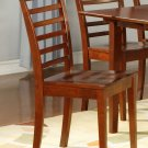 Set of 2 Picasso ladder back chairs dining room chairs in Mahognay finish.