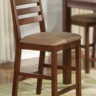 Set of 2  Cafe counter height stools with upholstered or wood seat in Espresso finish.
