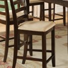 Set of 2 Fariwinds stool with wood or upholstered seat in Cappuccino Finish