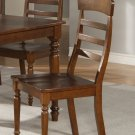 Set of 4 vintage  chairs dining room chairs with wood seat or cushion seat walnut finish.