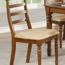 Set of 4 vintage  chairs dining room chairs with wood seat or cushion seat dark oak finish.